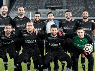The action heats up on second day of Mubadala Football Tournament