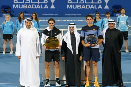 Nadal thrills to take Third Mubadala World Tennis Championship title in Abu Dhabi
