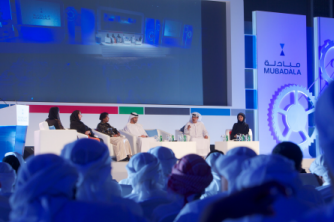 Speakers during one of Mubadala's Youth Forum 2013 panel discussions