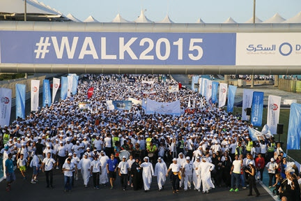WALK 2015 sees tens of thousands from Abu Dhabi community get more active