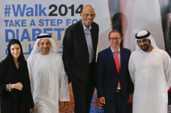 Key Abu Dhabi Partners Join Forces for #Walk2014 and Diabetes Awareness