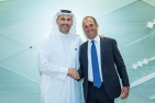 Photo: Our Group CEO and MD, Khaldoon Khalifa Al Mubarak with Egon Durban, Co-CEO of Silver Lake; 2019